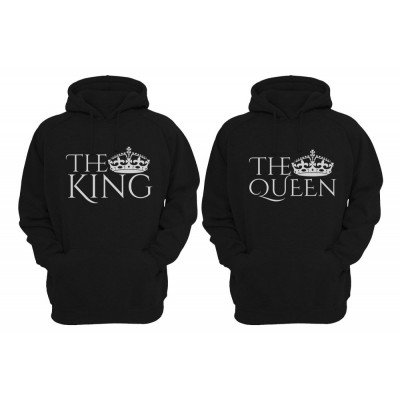 The King and The Queen Couple Hoodie Set