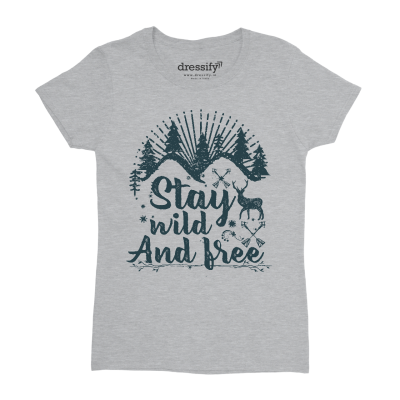 Stay Wild and Free Kids T-shirt for Girls