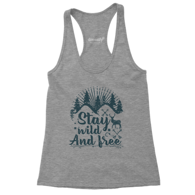 Stay Wild and Free Racerback Tank Top for Women