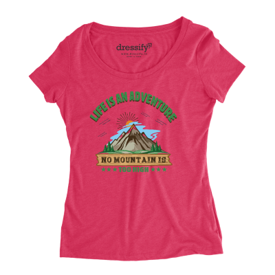 No Mountain is too High Womens Half-Sleeves Cotton T-shirt