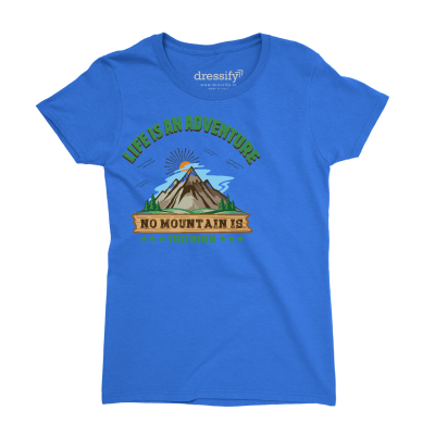 No Mountain is too High Kids T-shirt for Girls