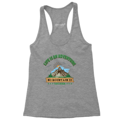 No Mountain is too High Racerback Tank Top for Women