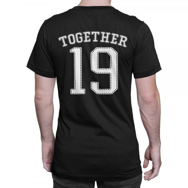 Together Since Customised Half Sleeves Couple T-shirt set