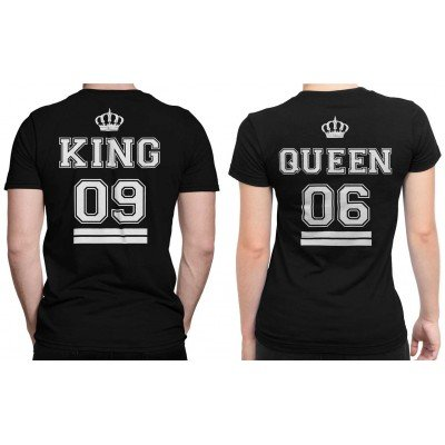 Customized King Queen Couple T-shirt set