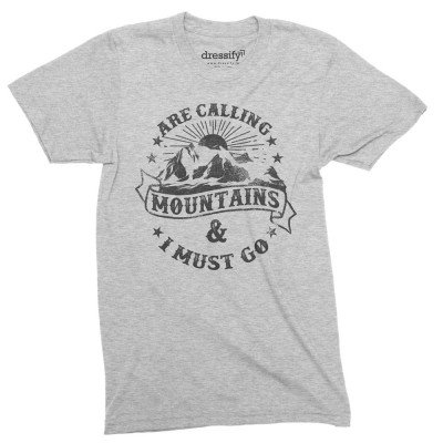 Mountains are calling half sleeves tshirt