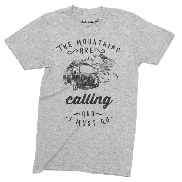 Mountains are calling and I must go half-sleeves tshirt