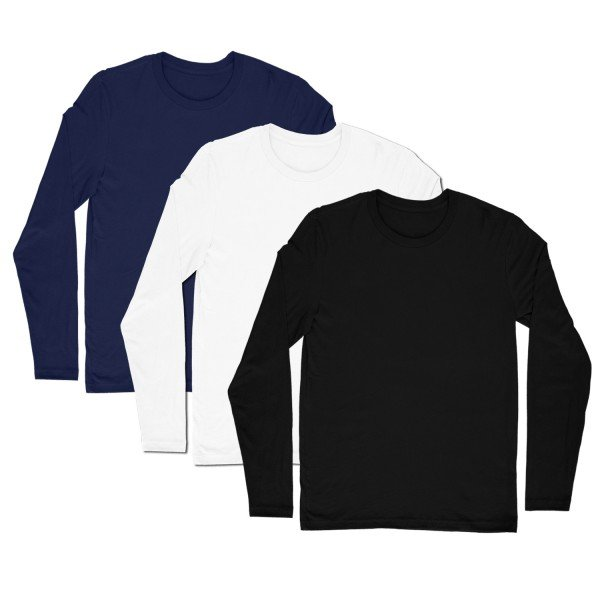 Full Sleeves T-shirt Pack (Set of 3 T-shirts)