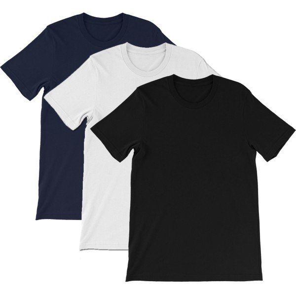Half Sleeves T-shirt Pack for Men (Set of 3 T-shirts)